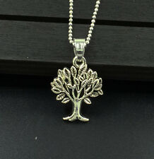 NEW 1pcs Tree   Necklace Charm Pendant Antique Tibet Silver Gift  C3