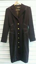 ESCADA Women's Coat Dress Margaretha Ley SZ 34 NWOT Plum $2500 Retail