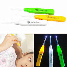 New 1pcs Ear-pick Ear Wax Remover Cleaner Curette LED Flashlight Light