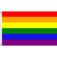 Rainbow Large Flag 8ft x 5ft Gay Pride Banner Decoration With 2 Metal Eyelets