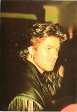 GEORGE MICHAEL 7 x 5  inch unused Postcard - LEATHER FRILLS
