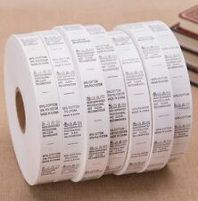 Garment Clothing Sewing Care Wash Barcode Instructions Fabric Content Labels