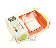 Home Euro Plug 4 Ports USB 2.0  AC Power Adapter USB Travel Charger for iPhone