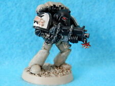 SPACE MARINES ARMY - BLACK TEMPLARS MODEL OOP WELL PAINTED METAL A