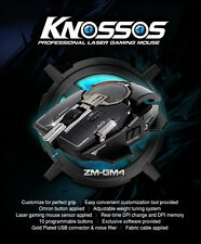 Zalman Laser Gaming Mouse (USB/8200dpi/8 Buttons) - ZM-GM4 - Knossos GM4 Mouse