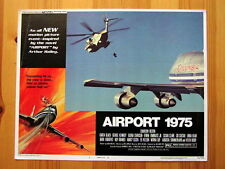 AIRPORT 1975 Ori JUMBO JET 747 HELICOPTER Lobby Card CHARLTON HESTON KAREN BLACK