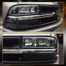 1998-2004 Chevy S10/Blazer Black Headlights Lamps + Bumper Parking Signal Lights