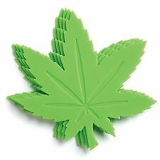 Gama-Go Hi Times Pot Leaf Shaped Silicone Drink Coasters - Set of 4