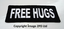 P3 FREE HUGS Iron on Patch.Funny Joke Biker Motorcycle Slogan Friendly