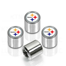 New NFL Pittsburgh Steelers Car Truck Chrome Finish Tire Valve Stem Caps Covers