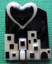 Boxed Modernist Art Deco Vintage Plastic Studio Brooch Pin by Lucinda Yates LY11