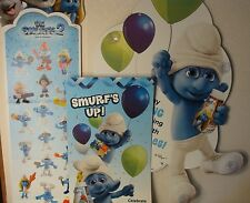MCDONALDS THE SMURFS 2 THICK PROMOTIONAL STORE SIGNS RARE FIND 3 TOTAL SIGNS