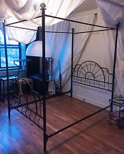 Versatile 3 Styles Black Iron Full Size Canopy Bed Frame LOCAL PICKUP ONLY
