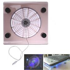 "USB Cooling Big Fan Air LED Light Cooler Pad For 15"" Laptop PC Notebook"