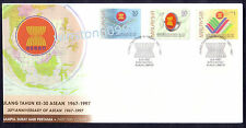 1997 Malaysia 30th Anniversary ASEAN 3v Stamps FDC