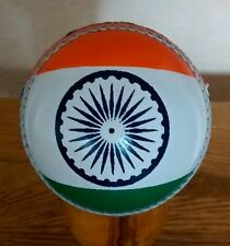 Indian Flag Design Real Leather Cricket Ball,Size Senior @ £11.95p - Great Gift