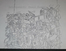 1984 Takara Transformers TV Magazine Internal Art Copy Autobot Group