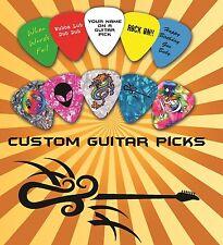 20 Custom Personalised Guitar Picks ~ Plectrums Printed one side