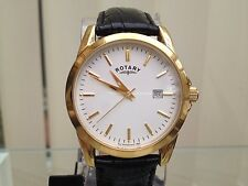 GENUINE ROTARY MENS GENT 9CT GOLD PLATED CLASSIC LOOK SWISS WATCH used