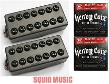 Seymour Duncan Invader 7 String Black Metal Covers ( 2 FREE SETS OF STRINGS )
