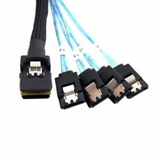 Mini-SAS SFF-8087 to 4 SATA Cable 50cm for SAS RAID Card LSI ADAPTEC ARECA