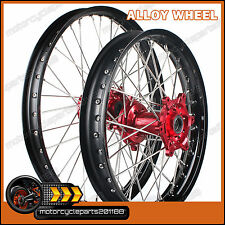 MX MOTOCROSS FRONT REAR WHEEL RIM RED HUB 36 SPOKES CR 125 250 R CRF 250 450 R X