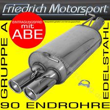 EDELSTAHL ENDSCHALLDÄMPFER BMW 318D 320D LIMOUSINE+COUPE+TOURING E46