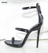 Size 7M Black Patent Qupid 4 1/2 Inch High Heels~Strappy Sexy Sandals WORN ONCE