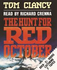 THE HUNT FOR RED OCTOBER - Tom Clancy (Cassette Audio Book)