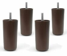 "4"" Universal Dark Brown Plastic Furniture Legs Sofa/Couch/Chair 5/16"" - Set of 4"