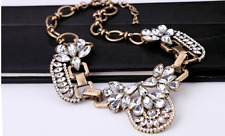 Elegant Sparkling Baroque-style Pendant Gold Plated Party Necklace
