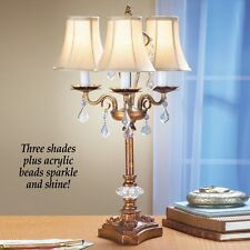 Antique Look Elegant Chandelier 3 Candle Home Table Lamp
