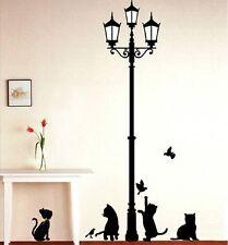 Stickers muraux chat sous les lampadaires motif Bricolage amovible