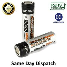 2 x Rechargeable 4800 mAh Batteries 18650 3.7V High Drain Li-Ion Vape Battery UK