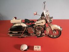 Franklin Mint Diecast hARLEY DAVIDSON POLICE BIKE Motorcycle - 1:10 - No Box