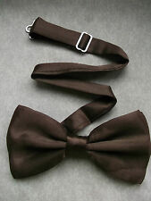 TOP QUALITY DICKIE BOW TIE CHOCOLATE BROWN ADJUSTABLE WEDDING BOWTIE SILKY NEW