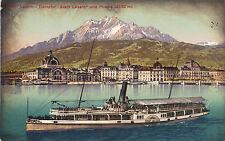 Luzern, Schiff-Dampfer Stadt Luzern, Ansichtskarte um 1910