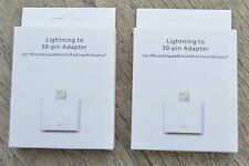 NEW | 2 PACK 8-pin lightning to 30 pin adapter converter for apple iphone/ipad
