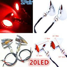 Motorcycle Bullet RED LED Turn Signal+Brake Stop+Running Tail Lights For Harley