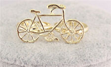 Wholesale 12pcs Chic Gold Plated Bike Bicycle Double Fingers Rings Size Adjust