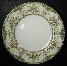 MINTON china CHATHAM green/ivory S123 pattern DINNER PLATE 10-5/8""