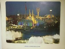 Orig Pan Am/Pan American Travel Poster/Picture-1964-New York World's Fair