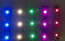 """Easy Ho scale (Lot of 5) 2"""" 3 LED color variety strips"""