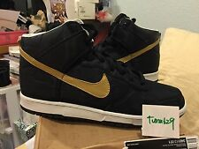 Nike Dunk Hi Vandal Premium Black Gold sz 11 High SB 346113-071