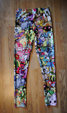 Pocket monter mashup leggings - 8 - 12 UK, video games geek, nerd game mon