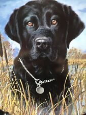"""danbury mint limited edition labrador retreiver plate """"On Alert"""" numbered plate"""
