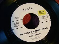 MINT/M- ORIG NORTHERN SOUL 45~HARRY JANES~MY BABY'S COMIN HOME/ON THIS BUSY~HEAR