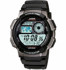 Casio Digital Men's Watch, 100M, 5 Alarms, Chronograph, Resin, AE1000W-1BV