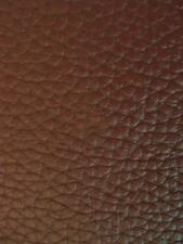 """TEXTURED PVC VINYL LEATHER FABRIC - Brown - 55"""" WIDTH SOLD BTY"""