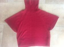 Women's Ladies F&F size 22 Plus Sz Polar Roll Neck Jumper Red Wine colour